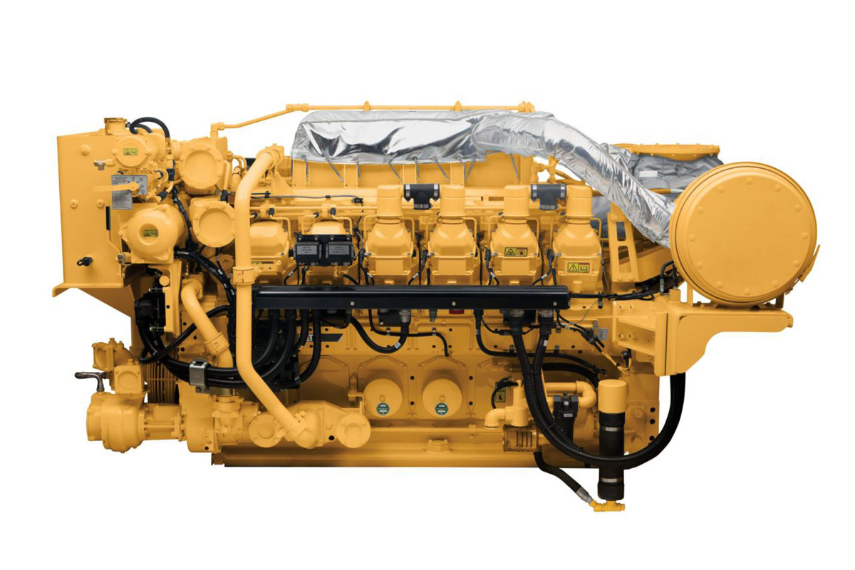 CAT High Displacement Marine Generator Set 3512C